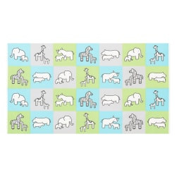 Kaufman Little Safari Flannel Blocks Aqua Fabric