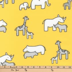 Kaufman Little Safari Flannel Collage Yellow Fabric