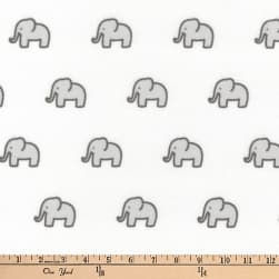 Kaufman Little Safari Flannel Elephants Grey Fabric