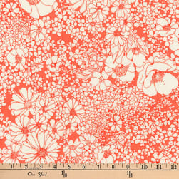 Kaufman Laurel Canyon Tight Floral Poppy Fabric