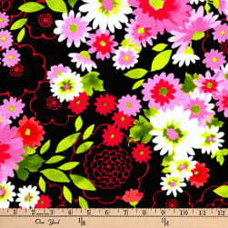 Kaufman Laurel Canyon Bouquet Black Fabric