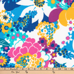 Kaufman Laurel Canyon Geo Floral Laguna Fabric