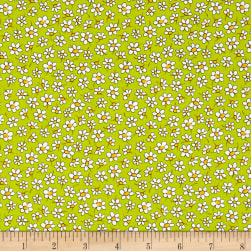 Country Cuisine Small Daisies Green