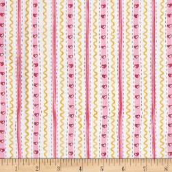 Country Cuisine Wallpaper Stripe Pink