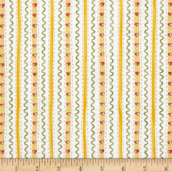 Country Cuisine Wallpaper Stripe Yellow