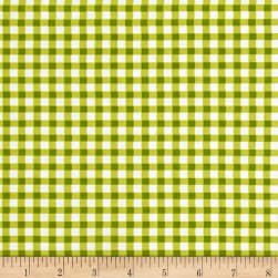 Country Cuisine Gingham Check Green