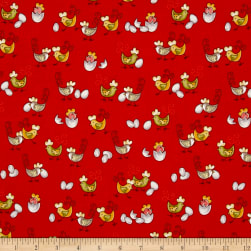 Country Cuisine Baby Chicks Red