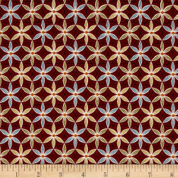 Coffee Escapes Coffee Flower Red Fabric