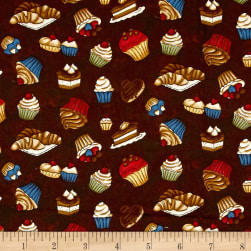 Coffee Escapes Sweet Treats Espresso Fabric