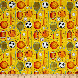 Good Sports Sports Items Yellow Fabric