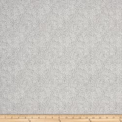 Monochrome Dotty Scallop White Fabric