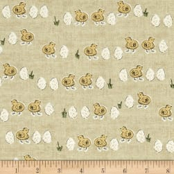 Home Grown Chicks And Eggs Yellow Fabric