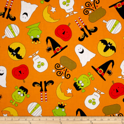 Fright Night Quite A Fright Orange Fabric