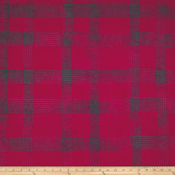 Alison Glass Handcrafted Batiks Chroma Plaid Cherry Fabric