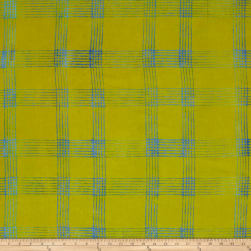 Alison Glass Handcrafted Batiks Chroma Plaid Citrus Fabric