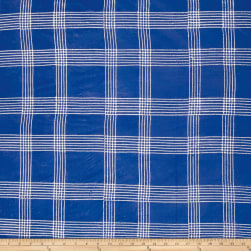 Alison Glass Handcrafted Batiks Chroma Plaid Cobalt