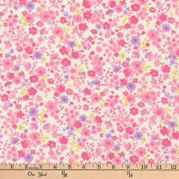 Kaufman Petite Garden Floral Spray Pink Fabric
