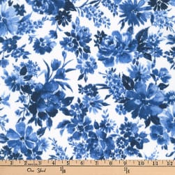 Kaufman Petite Garden Flowers Blue Fabric