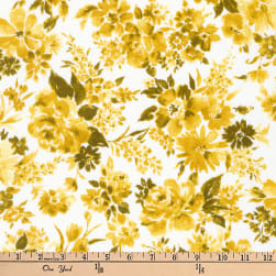 Kaufman Petite Garden Flowers Gold Fabric