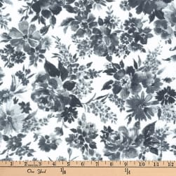 Kaufman Petite Garden Flowers Charcoal Fabric
