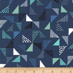 Michael Miller Sassy Cats Just Right Navy Fabric