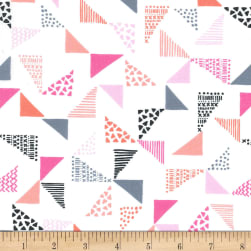 Michael Miller Sassy Cats Just Right Pink Fabric