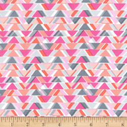 Michael Miller Sassy Cats All Angles Pink Fabric