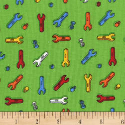 Michael Miller Tools Of The Trade Nuts And Bolts Green