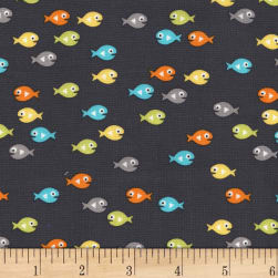 Michael Miller Guppies For Lunch Guppies Ocean Fabric