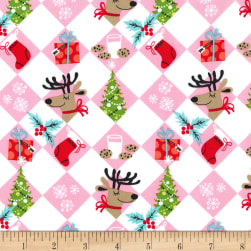 Michael Miller Holiday Row Tinsel Tiles Multi Fabric