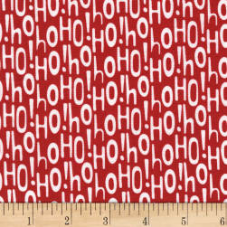 Michael Miller Holiday Row Holiday Ho Red Fabric