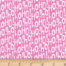 Michael Miller Holiday Row Holiday Ho Pink Fabric