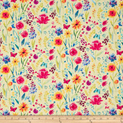 Michael Miller Garden Party Meadow Menagerie Yellow Fabric