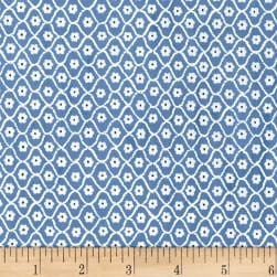 Michael Miller Flower Burst Flower Net Wedgewood Fabric