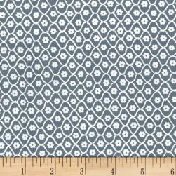 Michael Miller Flower Burst Flower Net Gray Fabric