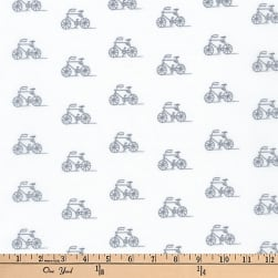 Kaufman London Calling Lawn Bikes Grey Fabric