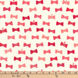 Kaufman London Calling Lawn Bow Ties Red Fabric