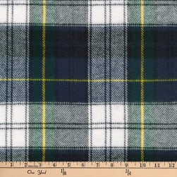 Kaufman Highlander Flannel Plaid Blue Fabric
