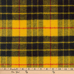 Kaufman Highlander Flannel Plaid Gold Fabric