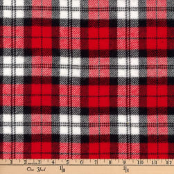 Kaufman Highlander Flannel Plaid Red Fabric
