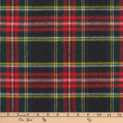 Kaufman Highlander Flannel Plaid Black Fabric