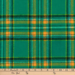 Kaufman Highlander Flannel Plaid Green Fabric
