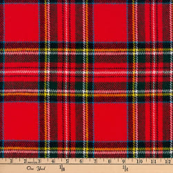 Kaufman Highlander Flannel Plaid Crimson Fabric