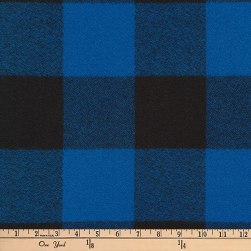 Kaufman Mammoth Flannel Buffalo Check Large Blue Fabric