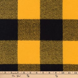 Kaufman Mammoth Flannel Buffalo Check Large Yellow