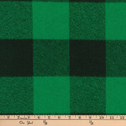 Kaufman Mammoth Flannel Buffalo Check Large Green Fabric