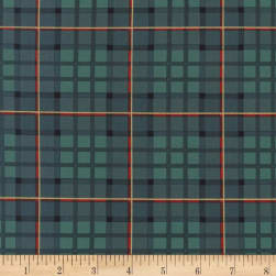 Michael Miller Nutcracker Metallic Nutcracker Plaid Evergreen
