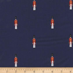 Michael Miller Nutcracker Metallic Toy Soldier Navy Fabric