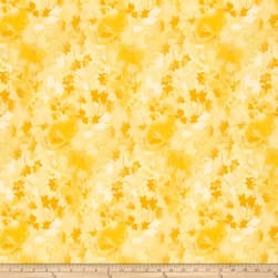 Ivy 118'' Wide Back Leaves Yellow Fabric