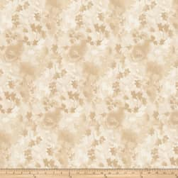"Ivy 118"" Wide Back Leaves Beige"